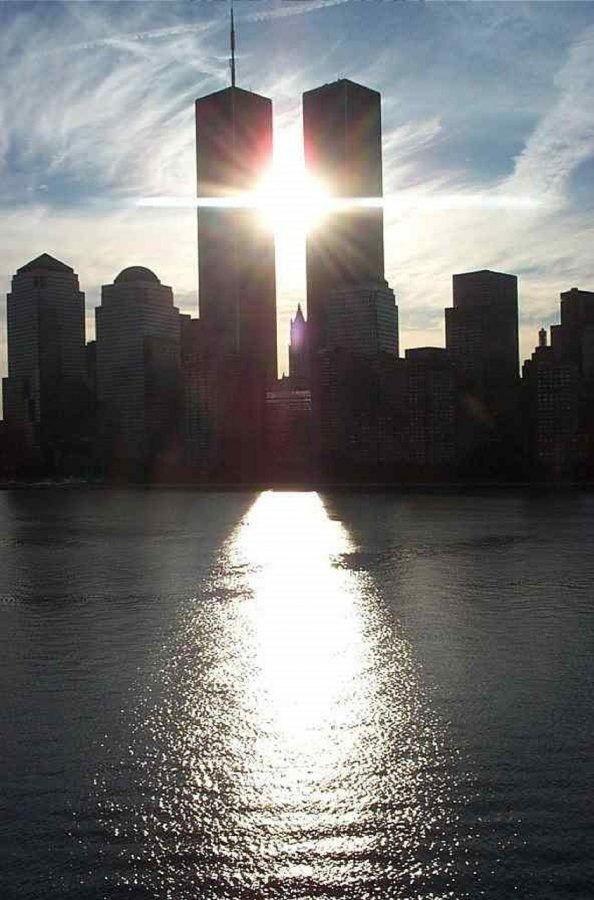 The twin towers prior to the terrorist attacks.
